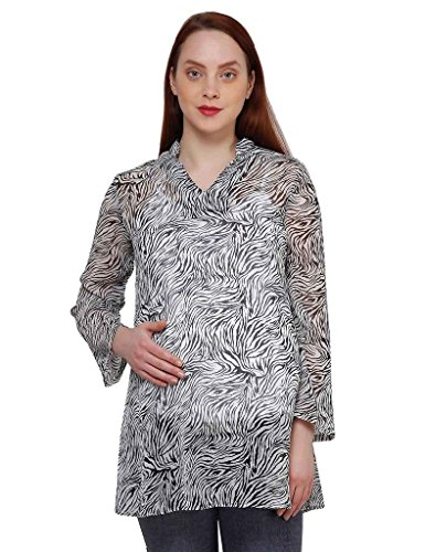 Oxolloxo Maternity printed tunic  available at amazon for Rs.359