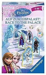 Disney Frozen - Race to The Palace, Juego de Tablero, para 2 a 4 Jugadores (Ravensburger 234028) (versión en alemán)
