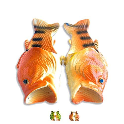 Coddies Goldfisch-Flops   Strandschuhe, Flip Flops, Freizeitschuhe, Hausschuhe, Duschschuhe und Sandalen für Männer, Frauen und Kinder (40/41 EU Grün)