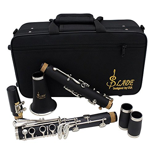 FEN@Klarinette B-Klarinette schwarz Blasinstrument 17-Schlüsselverteilung Reed Schraubendreher Reinigungstuch Handschuhfach spezielle Anweisungen