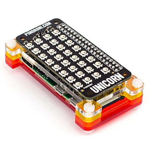 51KWuwkOvvL - Unicorn pHAT. Compatible con: Raspberry Pi 3, 2, B+, A+, and Zero.