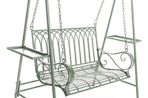 CLP Garten Hollywoodschaukel YLENIA, 2 Sitzer / 3 Sitzer, Landhaus-Stil, Metall (Eisen), bis zu 6 Farben wählbar antik-grün - 5