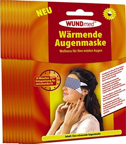 Wärmende Augenmaske | Augenpflege - Anti Falten, Tränensacke, Augenringe und Kopfschmerzen | Augenpflege | Hautfreundlich *Zertifiziert* | Für Männer und Frauen (10er Pack - Spare 25%)