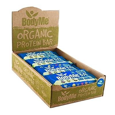 BodyMe Organic Vegan Protein Bar | Raw Chia Vanilla | Box of 12 x 60g | With 3 Plant Proteins