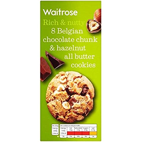 Chocolate y avellana Galletas Waitrose 200g