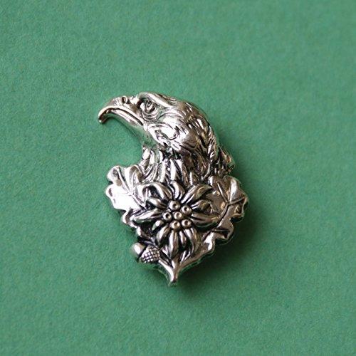 Hutanstecker | Hutabzeichen | Hutschmuck | Anstecker – Adler mit Edelweiß – 3,3 x 2,5 cm - 2