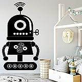 yaoxingfu Hot Robot Adesivo murale Adesivo murale Adesivo murale per Bambini Ragazzi Accessori Decorazione Camera da Letto Decor Wallsticke Rosso 64x117cm