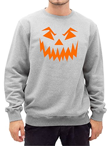 Halloween Face Sweater Grey Certified Freak-M