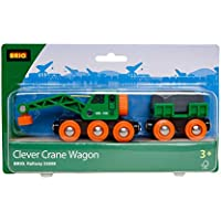 Brio Green Crane Lorry with Trailer