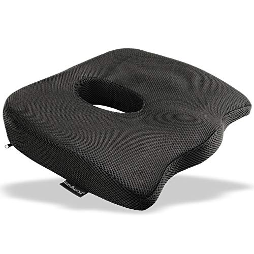 Cojín de asiento ortopédico de lujo para COXIS Medipaq®: diseñado para aliviar la ciática, el dolor de cóxis y el dolor de espalda en cualquier asiento con antideslizante.