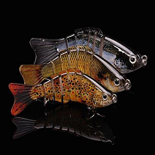 Bazaar Pêche à la carpe maxcatch leurres 10cm 13g 7 segments crankbait leurre dur