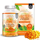 Organic Turmeric 600mg with Curcumin & Bioperine | 120 Clear Veg Capsules (Suitable For Vegetarians) | Organic Certified & Made in the UK