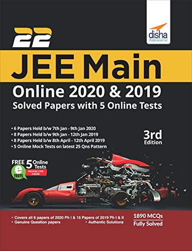22 JEE Main Online 2019 & 2020 Solved Papers with FREE 5 Online Mock Tests