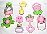 #6: Amigoz Baby Rattles [Best Gift For Newborn & Infants] [Set Of 7 Non-Toxic Colorful Toys]