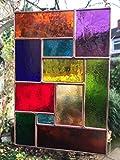 Vetrate suncatcher, Pannelli in vetro colorato, multi colore rame astratto pannello, arte del vetro - Colin Rhodes