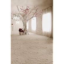 A.Monamour Romántico Estudio De La Boda Árbol De Flores De Interior 5X7Ft Vinilo Fotografía De Fondo Apoyos De Pie