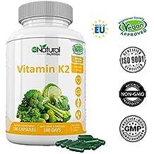 Vitamina K2 MK7. Suplemento Natural . Protege Corazón, Cerebro. Huesos Fuertes. 180