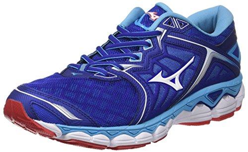 on sale 1faf3 3c99b Mizuno Wave Sky, Chaussures de Running Homme, Multicolore  (Surftheweb White Aquarius