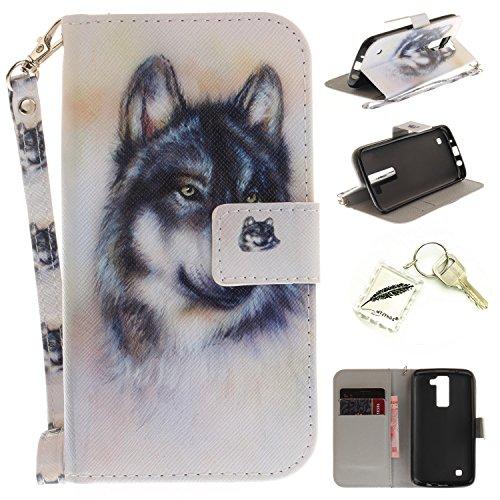 Preisvergleich Produktbild Silikonsoftshell PU Hülle für LG K8 (5 Zoll) Tasche Schutz Hülle Case Cover Etui Strass Schutz schutzhülle Bumper Schale Silicone case+Exquisite key chain X1) #KE (10)