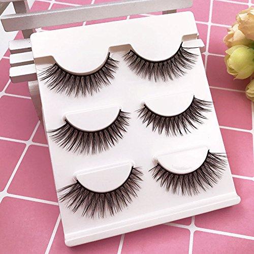 uli® Echte 3D weiche lange natürliche Wimpern Make-up dicke falsche Wimpernverlängerung Künstliche Wimpern 3D Falsche Wimpern Magnet Wimpern Wiederverwendbare ()