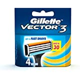 Gillette Vector 3 Manual Shaving Razor Blades - 4s Pack (Cartridge)