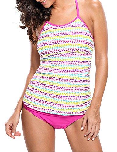 ... Pinkyee Damen Tankini Pattern Color