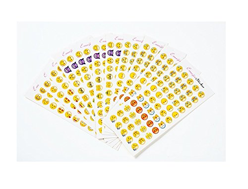 tee 36 Blätter Abnehmbare Lustige 1980pcs Emoji Aufkleber DIY Aufkleber Emotion Aufkleber Party Taschen Geschenk für Kinder (Diy Geschenk-taschen)