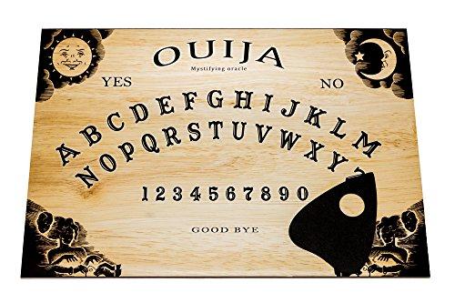 Wiccan Star Grande A3 Classico Tavola Ouija con Planchette e Istruzioni Dettagliate (in Inglese). Ouija Board.
