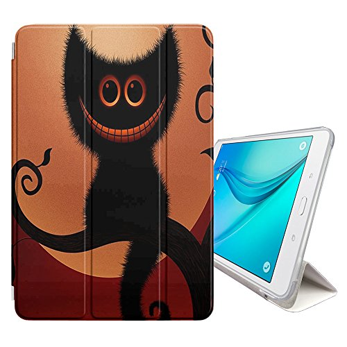 Graphic4You Halloween Allerheiligen Thema Katze Design Smart cover Hülle Dünn Tri-Fold Schlank Superleicht Ständer Cover Schutzhülle Tasche für Samsung Galaxy Tab A 10.5