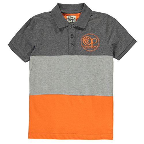 ocean-pacific-kinder-jungen-panel-polo-shirt-kurzarm-polohemd-freizeit-char-m-orange-9-10-mb