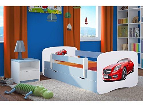 etagenbett haus Kocot Kids Kinderbett Jugendbett 70x140 80x160 80x180 Blau mit Rausfallschutz Matratze Schublade und Lattenrost Kinderbetten für Junge - Mercedes 160 cm