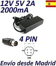 Cargador Corriente 12V 5V 2A 2000mA 4 PIN DIN Disco Duro Caja Externa Hard Drive