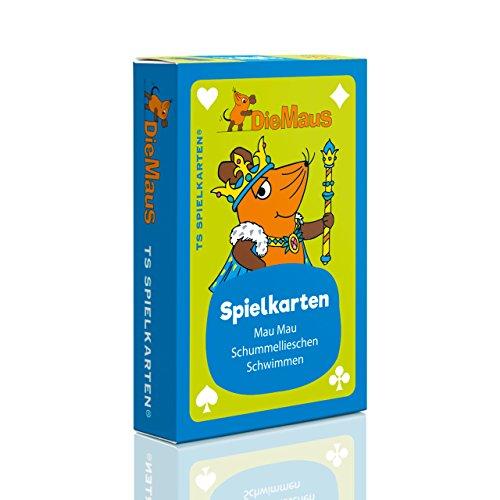 Die Maus Kinderspielkarten - Mau Mau, Schummellieschen, Schwimmen, Bettler uvm. von der Sendung mit der Maus, DieMaus WDR, Kartenspiel für Kinder, Kinderkarten von TS Spielkarten