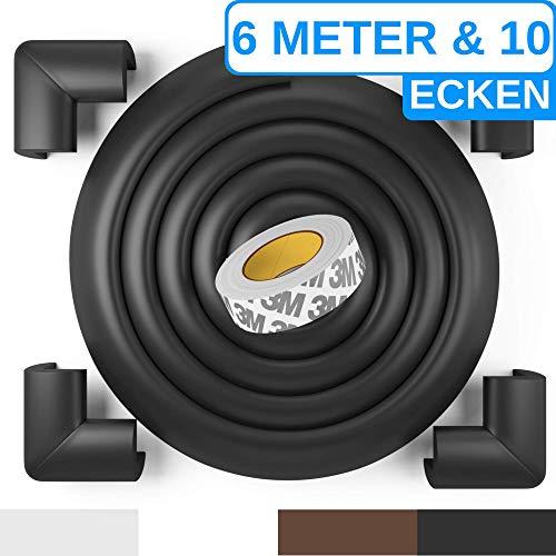 Premium Kantenschutz von BEARTOPTM - weiß, schwarz, braun - sehr starker Kleber für dauerhaften Schutz - für Tische, Arbeitsplatten, Kommoden usw. - aus weichem Schaumstoff -100{cfd4deb42d7a717782d44f4b3100c36585d789cc6d4918c3308d7cfe64602820} ZUFRIEDENHEITSGARANTIE