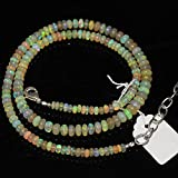 Fire Ethiopian Welo Opal Smooth Loose Rondelle Gemstone Craft Beads Strand Necklace 16
