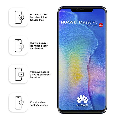 Huawei Mate 20 Pro 128GB Handy, Android 9.0 (Pie), Dual SIM, midnight blue (West European Version)