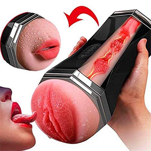 Masturbator, für Männer, Copa, 3D, Realista Vagina y Boca-Masturbator, 10 Masturbator, vibrierend, USB, wiederaufladbar