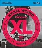 D'Addario EXL145 Set di Corde Rivestite in Nickel per Chitarra Elettrica, Heavy, 12-54