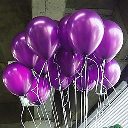 Balloon- 100pcs Lot 10 Inch Colorful Pearl Latex Balloon Birthday Decoration - Purple Decorations Decor Stand Pink Napkins Paper Favors Happy Boxes Kids Stars Plates Party Bulk White (Boxes Favor Bulk)