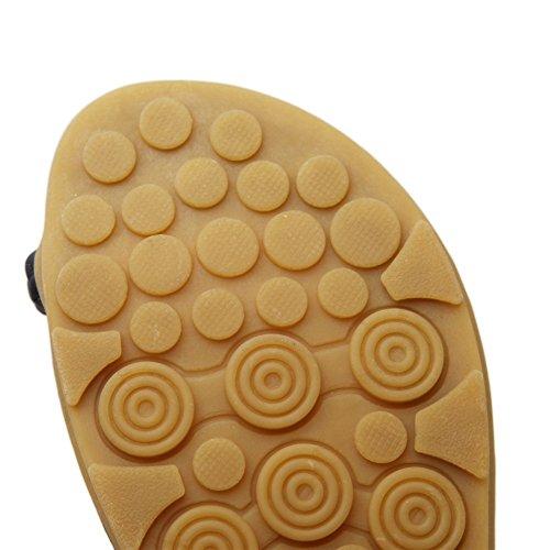 Fortuning's JDS Classici sandali di estate di modo i pistoni per le donne Nero