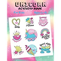 UNICORN ACTIVITY BOOK For Kids Ages 4-8, a funny Workbook Game for Learning, Coloring,Dot To Dot, Word Search as a Birthday Gift for Girls and Boys: ... white-color paper, soft cover, matte finish.