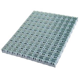 100PCS Elektronische Komponenten Aufbewahrungsbox Teile Box Patch Box für SMD/SMT,Blau