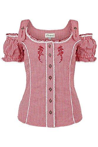 Trachten Bluse - Spieth & Wensky Damen Carmenbluse mit