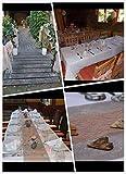 Weinlese Spitze Spitzenbordüre Spitzenborte Stuhl Schärpe Band Tischläufer Tischband Hochzeit Festival Tischdekoration Spitze Rolle 15cm-30cm Breite (30cm x 9m, rosa) - 2