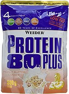 Weider Protein 80+, Erdnussbutter-Cookie, 1er Pack (1 x 500g)