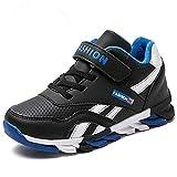 Yi Buy Enfants Chaussures de Sport Garçon Chaudes Fourrure Sneakers Fille Hiver Chaussure de Course(Noir 37 EU)