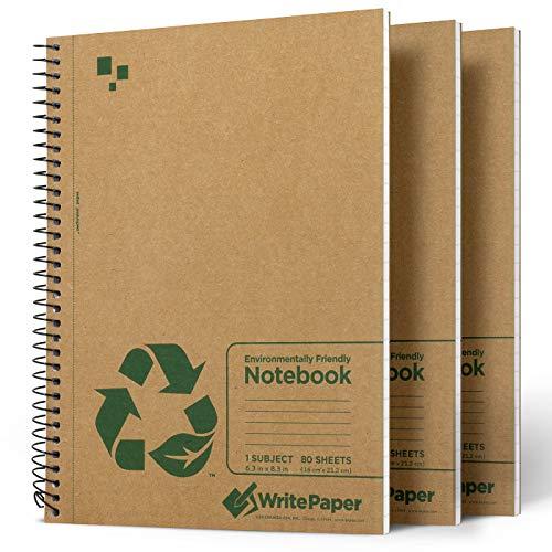 Write Paper Cuaderno A5 Libreta, Pack de 3 Bloc de Notas Espiral,...