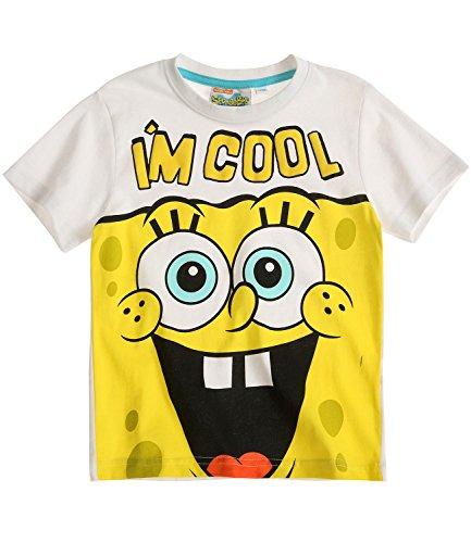Bob L'éponge Garçon Tee-shirt - blanc - 6 ans