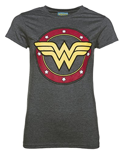 Womens Charcoal Marl Wonder Woman Tee