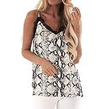 Mujeres de Encaje Chaleco sin Mangas Casual Blusa de Primavera Tops Camiseta Estampado De Leopardo Serpiente Camisas Blusas Crop Tops Mujer Verano Camiseta de Verano sin Mangas Encaje de Mujeres Tank